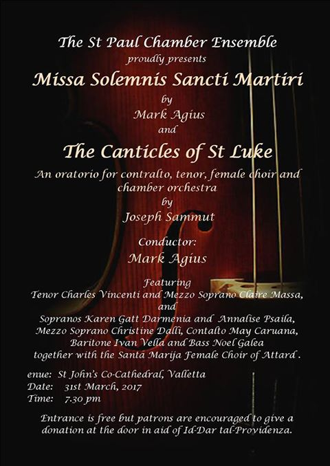 Sacred Music in Aid of Dar tal- Providenza