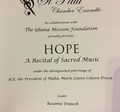 Concert in aid of Ghana Mission Foundation